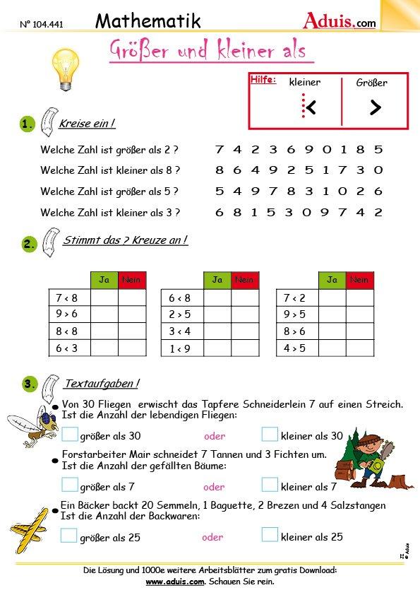 gemischte Aufgaben - einfache Übungen | Aduis