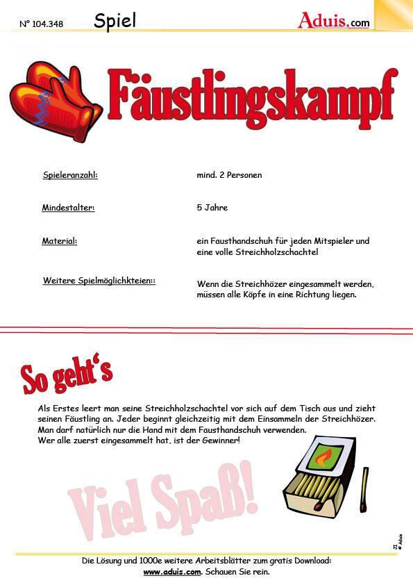 Spiele für Drinnen - Tischspiele - Bastelideen   Spiele & Rätsel