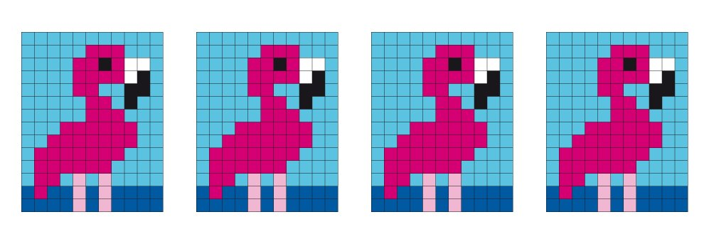 pixel vorlage medaillon  flamingo  aduis