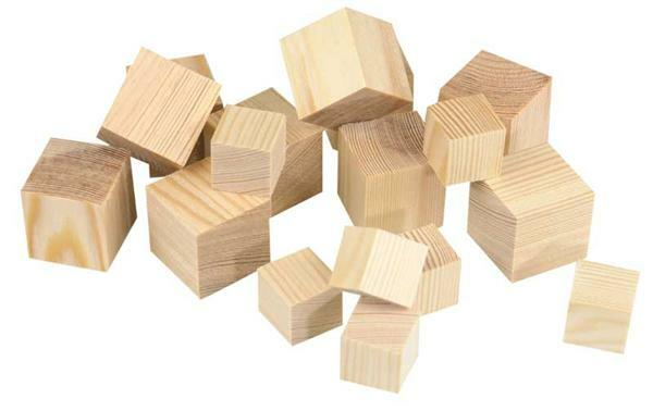 Holzwürfel gross - 50er Pkg., 30 x 30 mm