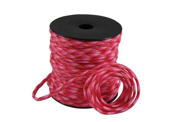 Paracord 4 mm - 40 m, pink-rot