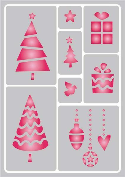 schablone a5 selbstklebend weihnachten 1 malen. Black Bedroom Furniture Sets. Home Design Ideas