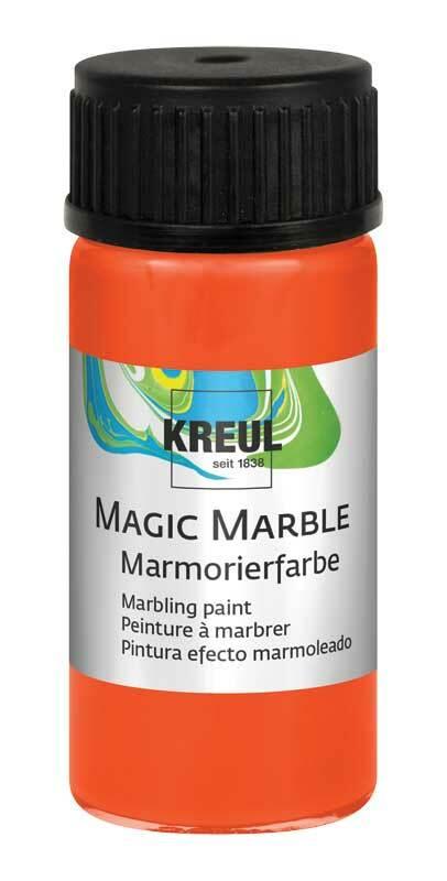 marmorierfarbe magic marble 20 ml orange kreatives. Black Bedroom Furniture Sets. Home Design Ideas
