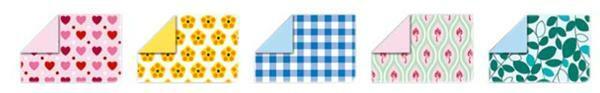 faltbl tter mit motiven 15 x 15 cm sweet papier und karton faltbl tter. Black Bedroom Furniture Sets. Home Design Ideas