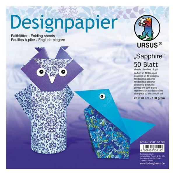 faltbl tter mit motiven 15 x 15 cm sapphire papier. Black Bedroom Furniture Sets. Home Design Ideas