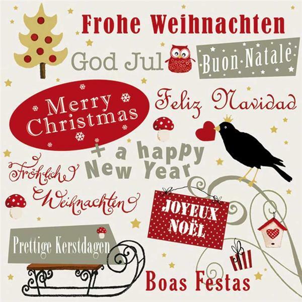 Servietten - 20 Stk./Pkg., Welcome Christmas - Papier und Karton ...