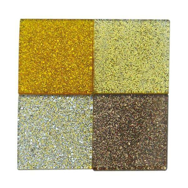 Mosaik Glitter Mix - 10 x 10 mm, braun