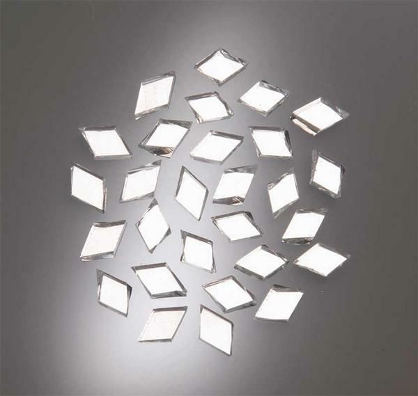 Mosaik spiegelsteine 100 g raute 15 x 10 mm kreatives gestalten mosaiksteine und zubeh r - Mosaiksteine spiegel ...