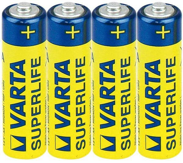 Batterie Varta 1,5 V AA - Superlife, 4er Pkg.