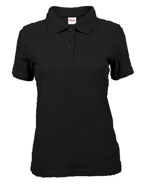 polo shirt damen schwarz l online kaufen aduis. Black Bedroom Furniture Sets. Home Design Ideas