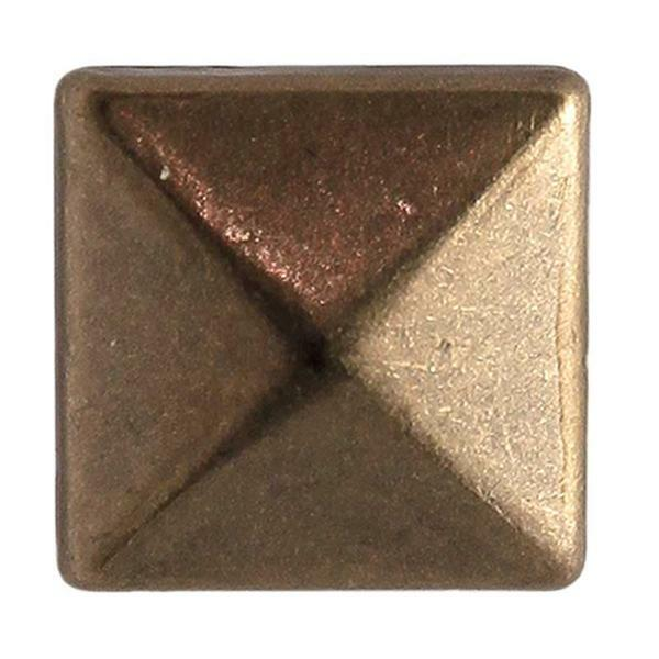 Fashion Niete - Quadrat, 8 mm, antik bronzefarbig