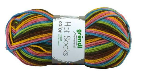 Sockenwolle Hot Socks color - 50 g, bunt