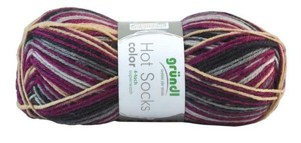 Sockenwolle Hot Socks color - 50 g, beere